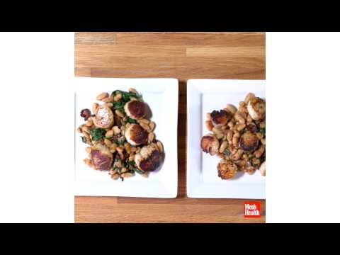 Seared Scallops With White Beans