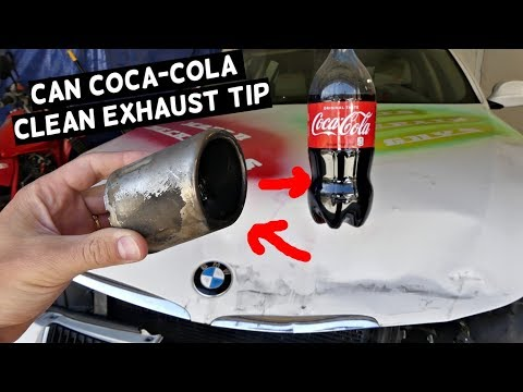 CAN COCA COLA CLEAN 20 Year Old CHROME EXHAUST TIP