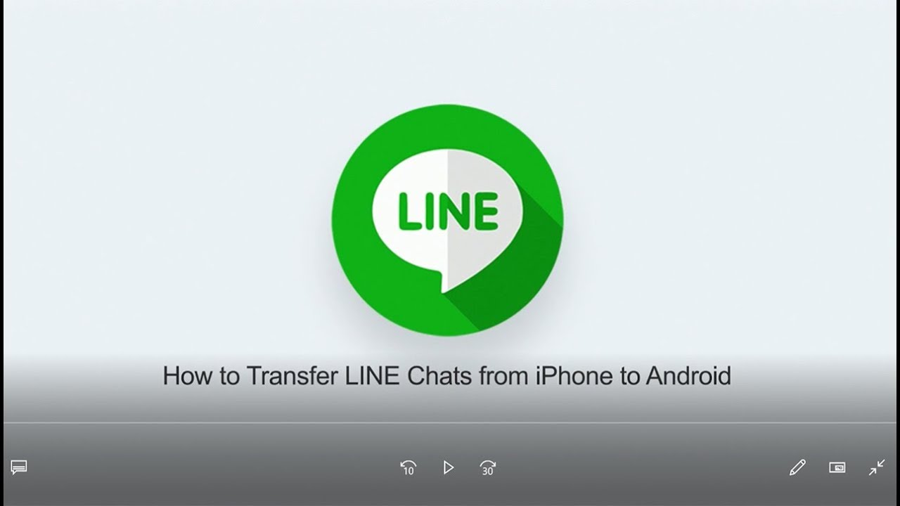 How to Transfer LINE Chats from iPhone to Android - YouTube