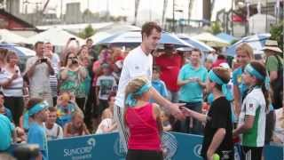 Andy Murray's time out. Brisbane International 2013