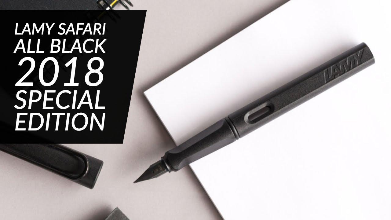 Safari Fountain Pen Medium All Black Lamy Limited Edition