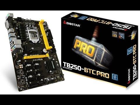 BIOSTAR TB250-BTC PRO LGA1151 12PCIe For Bitcoin Mining Motherboad Informational Video
