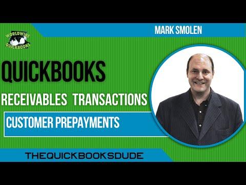 Learn QuickBooks video  33 -  customer prepayments - method 1