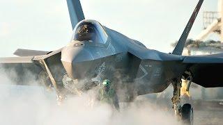 F-35 Lightning II Flight Test Aboard Carrier - Compilation