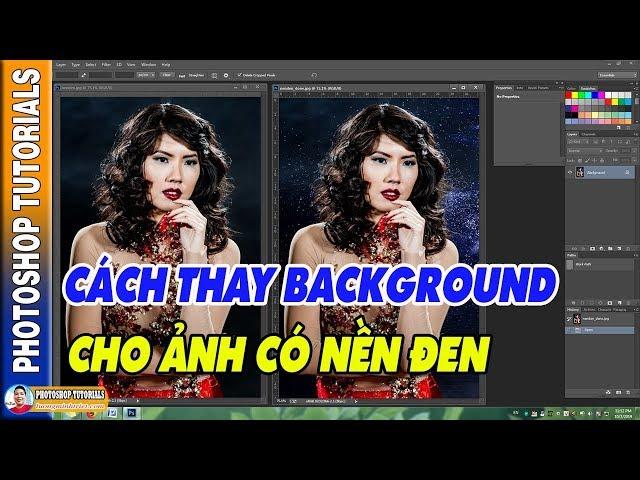 Cách Thay Background Cho Ảnh Nền Đen 🔴 MrTriet Photoshop Tutorials