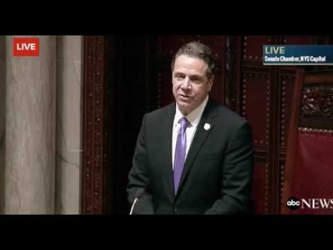 Andrew Cuomo Praises Clintons at Electoral College Vote