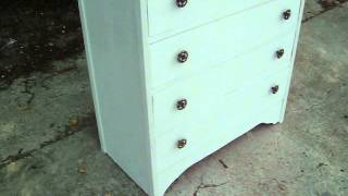 Vintage Retro Painted Shabby Chic Chest Of Drawers In Farrow And Ball