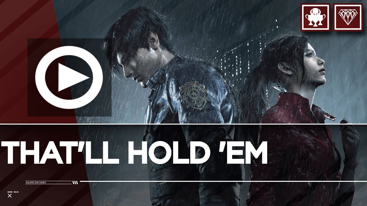 Thatll Hold Em Trophy Achievement Board Up A Window With Wooden Boards Resident Evil 2 Remake