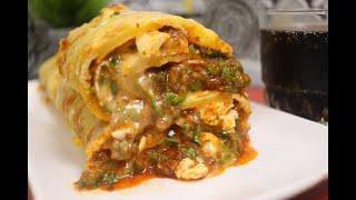 وجبة صيفية سريعة و لذيذة جدا رولي بطاطا محشي بصلصة البولونياز و الجبن