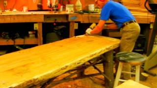 How to Make a Rustic Plank Table by Jim the Rustic Furniture Artist Part 36