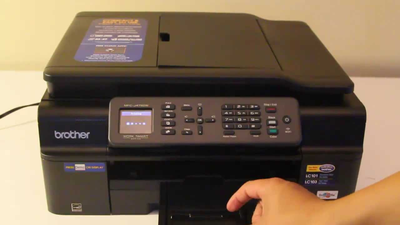 brother mfc j475dw all in one printer scanner copier fax youtube rh youtube com Brother Fax Machines Brother MFC Fax Machine Manual