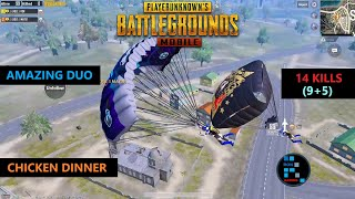 PUBG MOBILE | AMAZING DUO STRIKES AGAIN SEVERNY LANDING CHICKEN DINNER