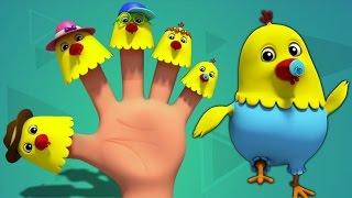 Куры палец семьи | Дети песни | Детские стишки | Finger Family Rhymes | Hens Finger Family