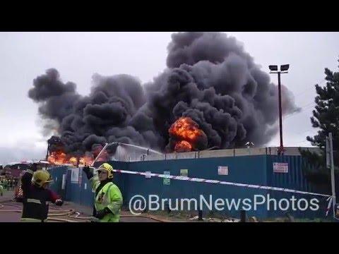 Huge Scrap Yard Fire In Saltley Birmingham