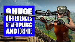 9 big differences between Fortnite Battle Royale and PUBG