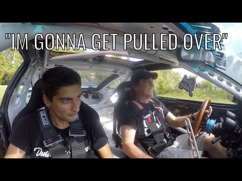 *Scared* Dad Drives Caged LS3 240sx
