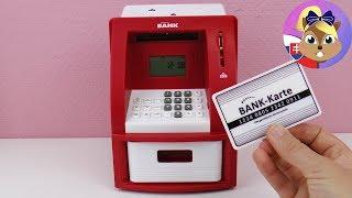Pokladnička bankomat   Elektronická pokladnička   Detská pokladnička s PIN-om   Bankomat pre deti