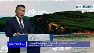 President Kh.Battulga proposes for joint organization of North East Asian Super Grid