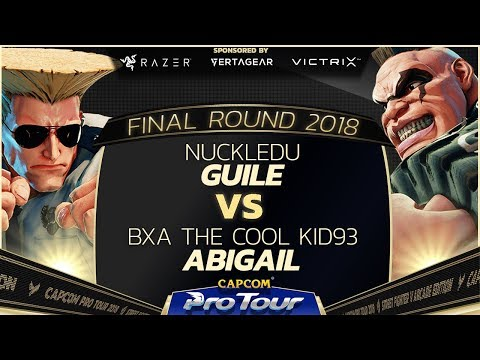 NuckleDu (Guile) vs. BxA The Cool Kid93 (Abigail) - Top 8 Qual. - Final Round 2018 - SFV - CPT 2018