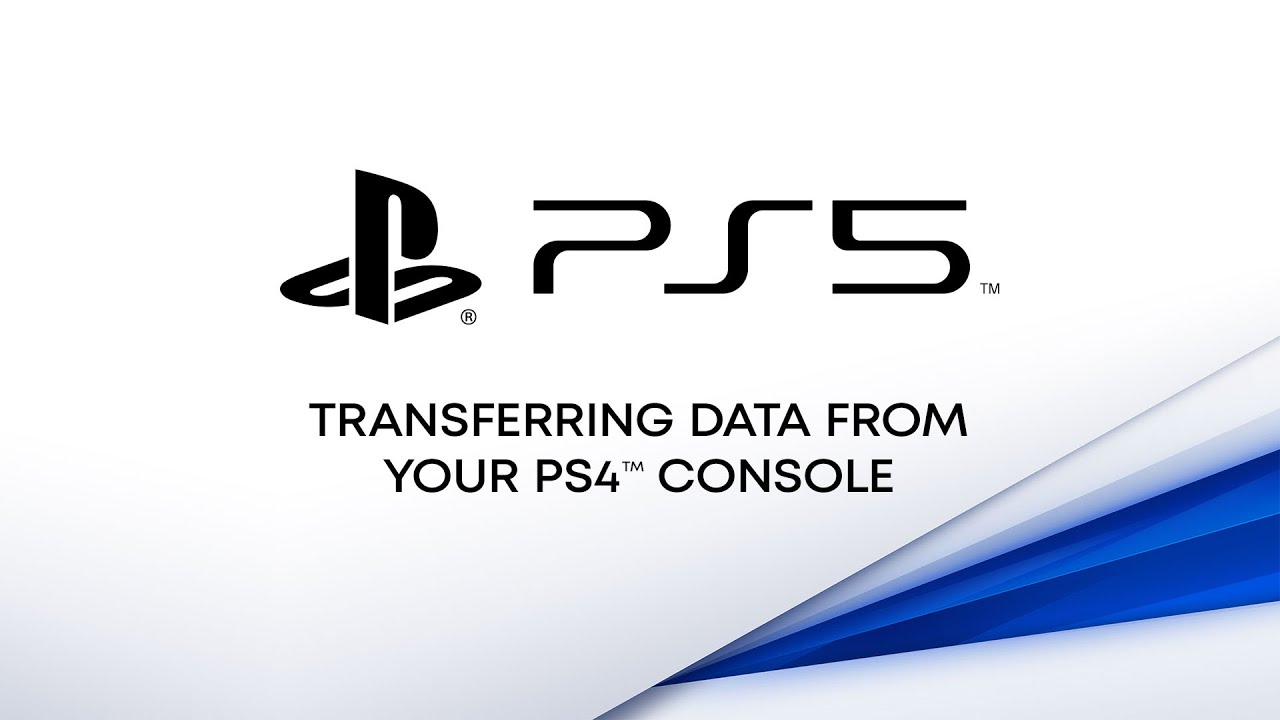 PS5 — Transferring data from PS4