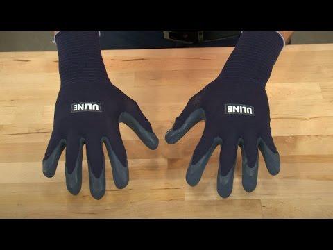 Uline Super Gription® Flex Latex Coated Safety Gloves