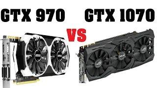 GTX 970 vs GTX 1070   i5 6600k Benchmarks