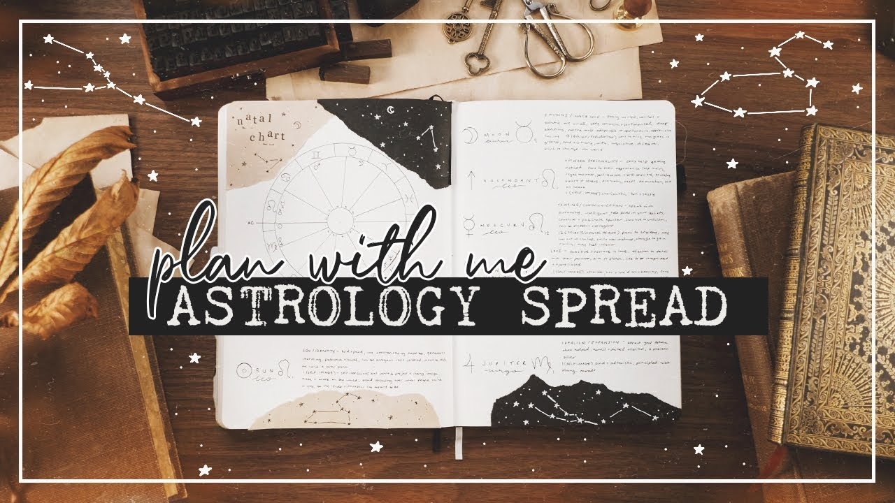 PLAN WITH ME Astrology Spread in my Bullet Journal 🌜🌞🌛