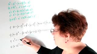 Разложение многочлена на множители, используя формулы сокращенного умножения
