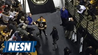 "Bruins Fans Watch Jake Gyllenhaal Film ""Stronger"" At TD Garden"