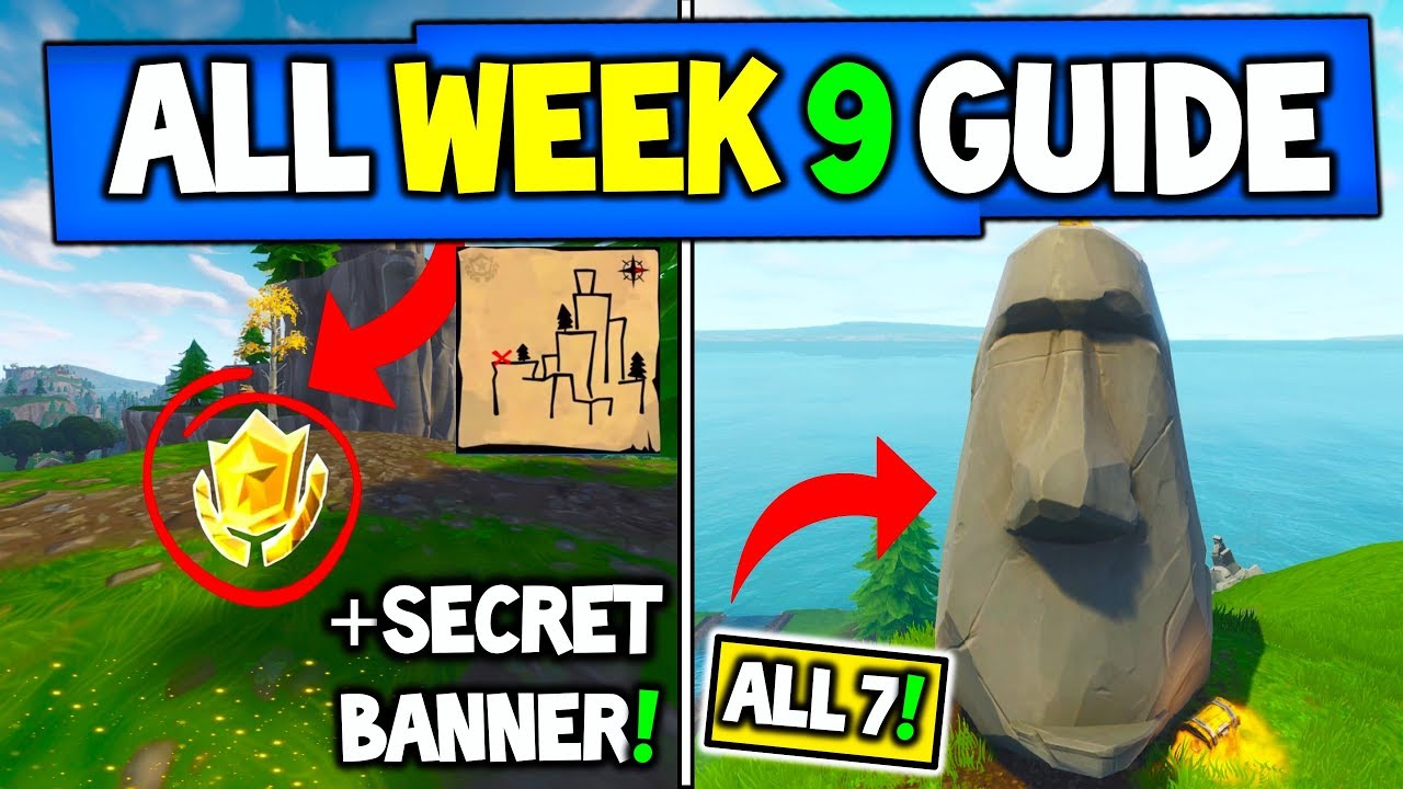 Fortnite Week 9 Challenges Guide Treasure Map In Shiftyshafts