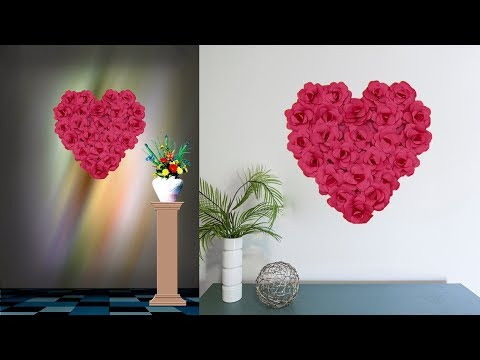 DIY Paper Heart Wall Hanging | Easy Wall Decoration Ideas | Paper craft
