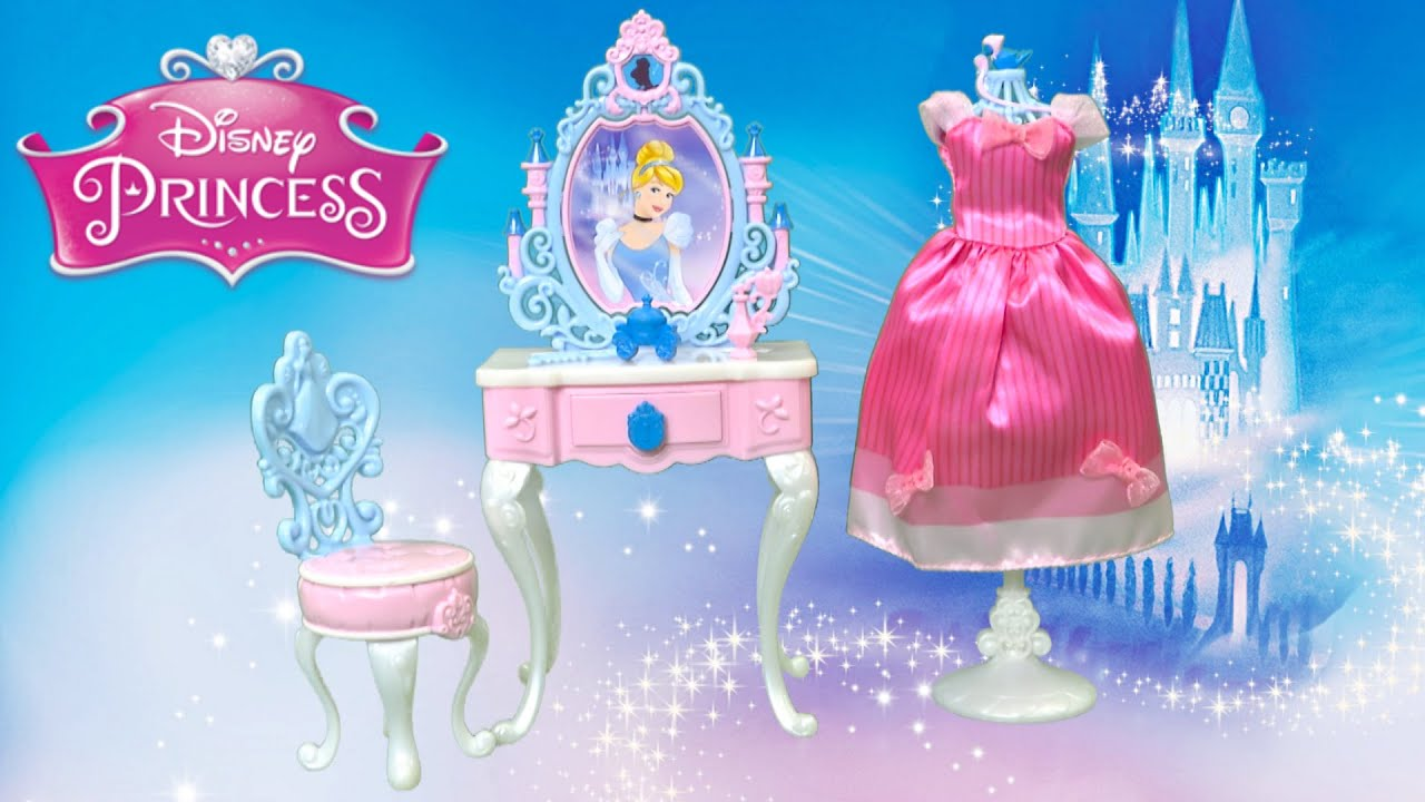 Disney Princess Cinderella\'s Enchanted Vanity Set from Hasbro - YouTube