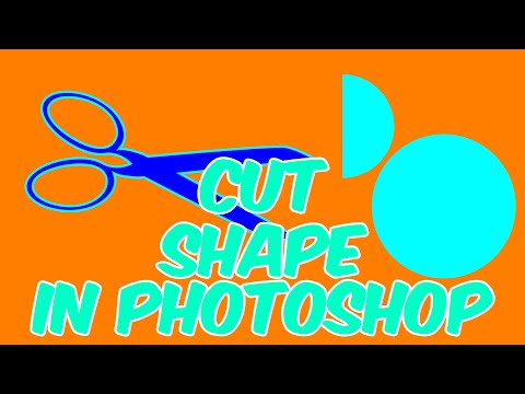 How To Cut Shape In Photoshop [Circle] L 2 Minute Photoshop Tutorial