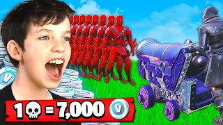 1 Élimination - 7 000 euros gratuits V-Bucks With My Little Brother (Fortnite Battle Royale)