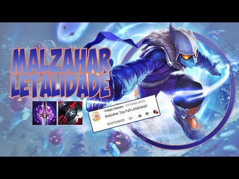 META É O CARVALHO! #93 - MALZAHAR TOP FULL LETALIDADE - League of Legends