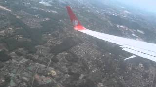 Lion Air Boeing 737-800 Take Off from Sultan Mahmud Badaruddin II Airport