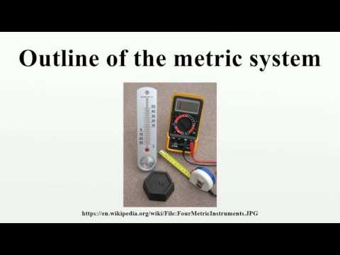 Outline of the metric system