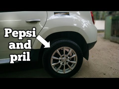 How to clean any car tyre with cola and pril