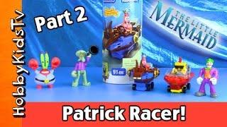 Patrick Builds RACE CAR! Nickelodeon Mega Build! Spongebob Joker Ariel Part 2 by HobbyKidsTV