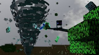 Monster School: TORNEDO SURVIVAL CAHLLENGE!! - Minecraft Animation