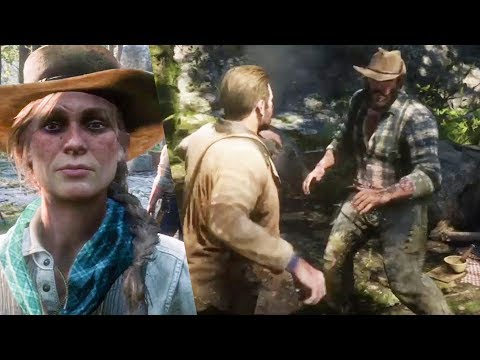 RDR2 Arthur doing the right thing - Red Dead Redemption 2 Camp Event