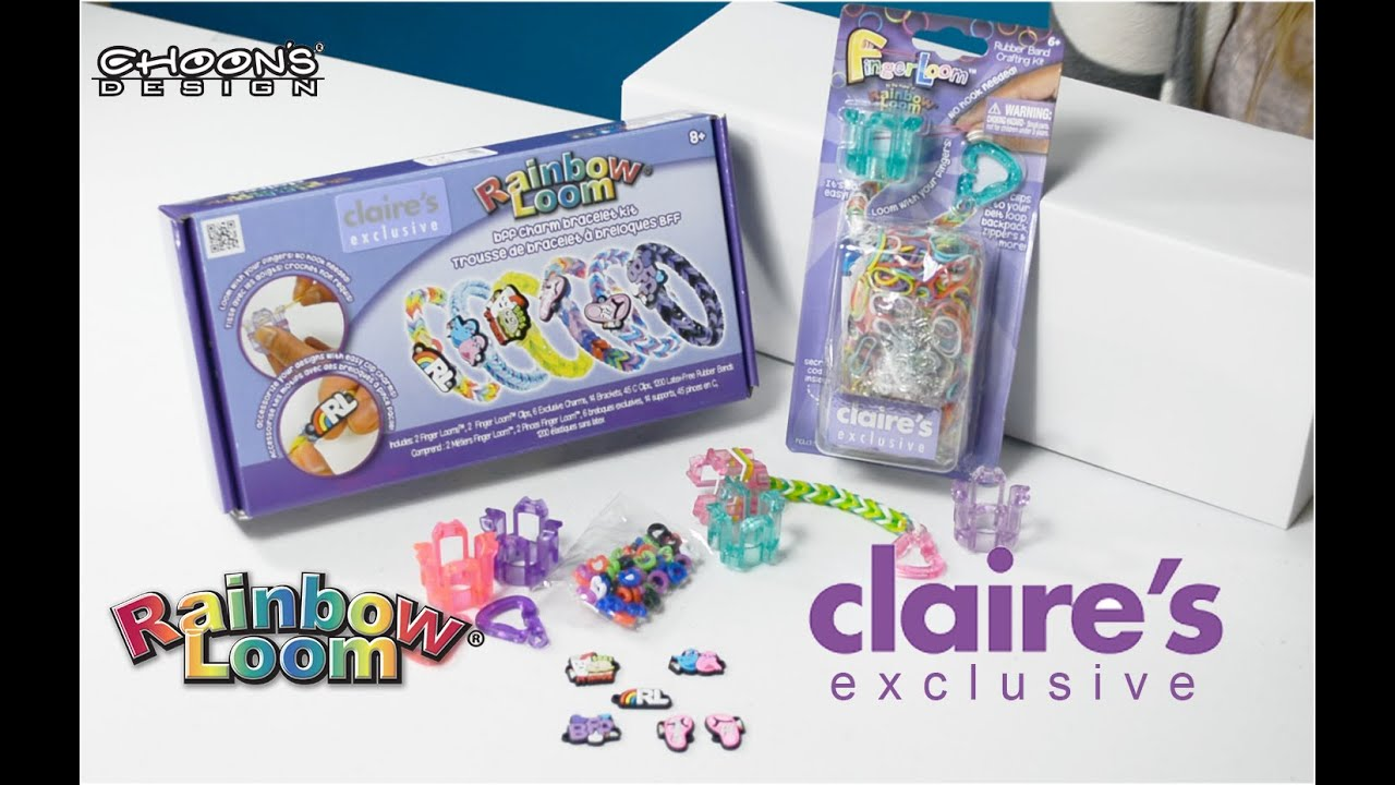 New Rainbow Loom® Bff Charm Bracelet Kit And Exclusive Colors Finger Looms   Youtube