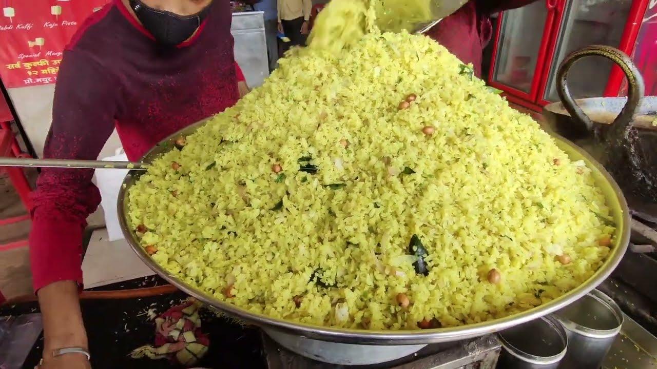 Famous Kanda Poha of Maharashtra | Indian Street Food