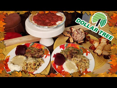 Dollar Tree Thanksgiving Meal | Appetizer, Entree, And Dessert