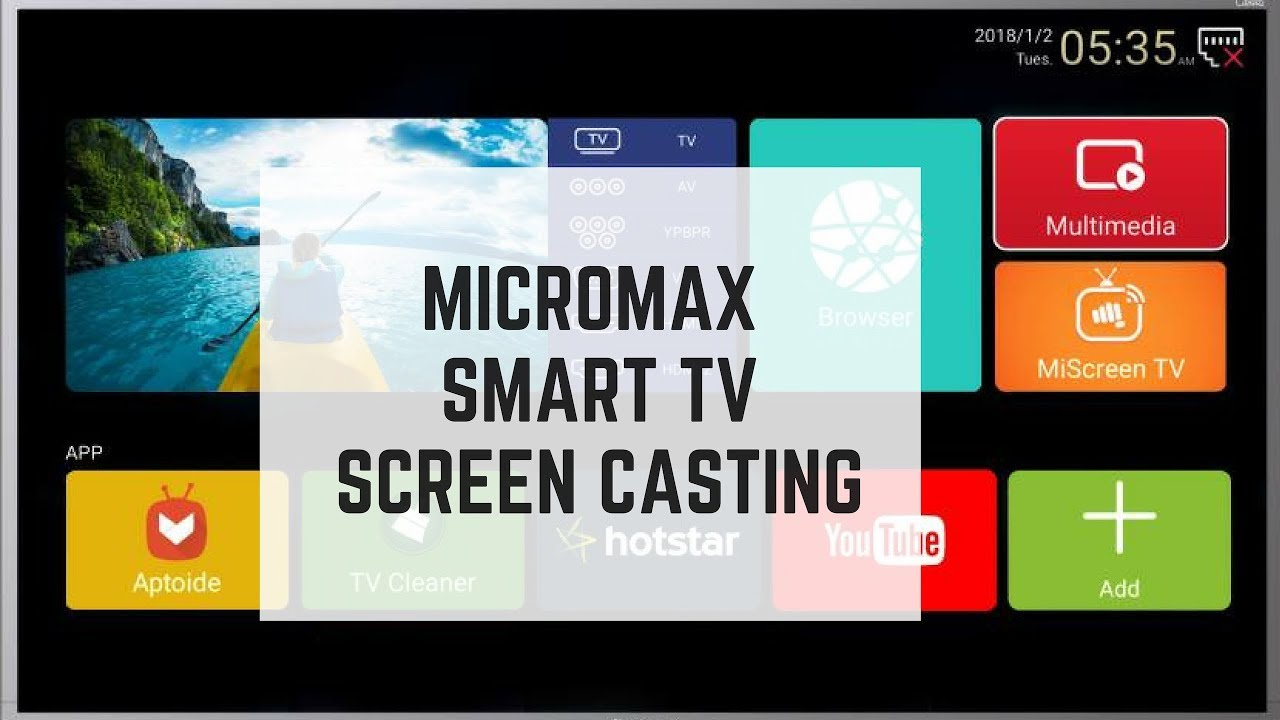 Micromax Canvas 3 Screen mirror/casting and 4k sample video for (40 inch  smart tv)