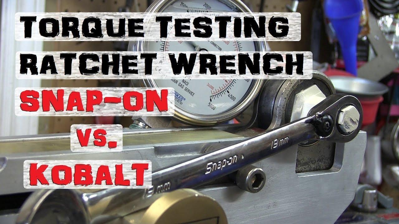 RATCHET WRENCH Shootout | Snap-on Kobalt