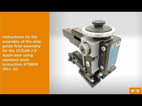 How to Assemble and Adjust TE OCEAN 2.0 Applicator Part 5