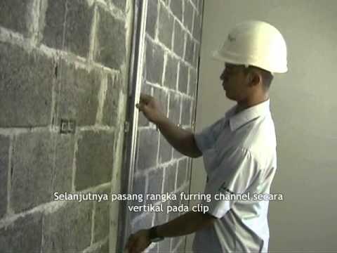 Memasang Plafon Baja Ringan Sistem Pelapis Dinding (dm2) - Youtube