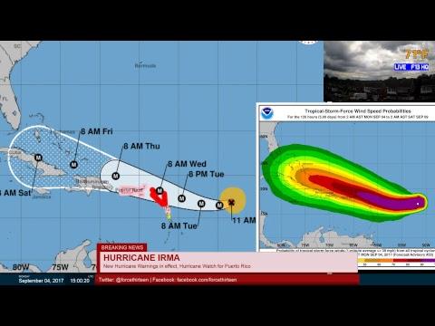Hurricane Irma - Live Coverage (8-11am AST, September 4 2017)