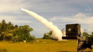迎撃ミサイル試験 THAAD 発射及びPAC-3 目標に命中